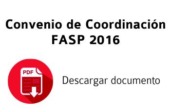 Convenio FASP 2016