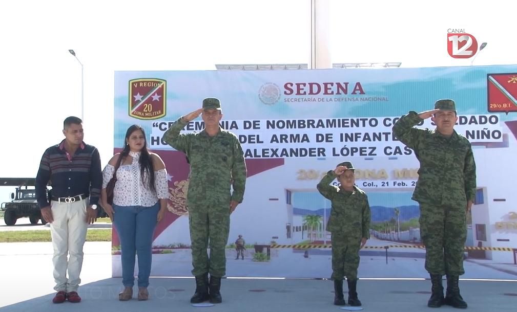 ¿Por qué Fabián Alexander es un niño soldado honorario?